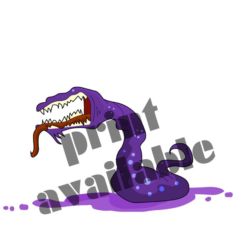 Carnivorous Slug Monster by ellysketchit