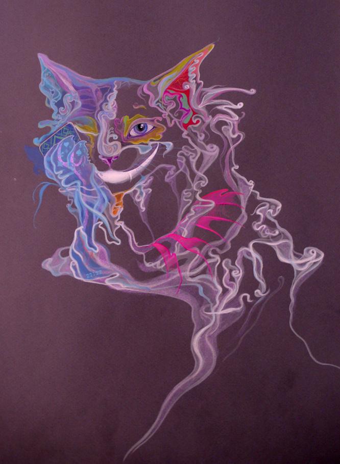 Cheshire Cat by Mushrushu