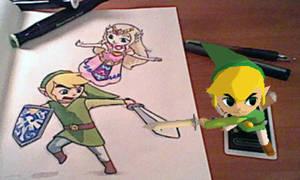 Art-Desk Zelda by slyeagle