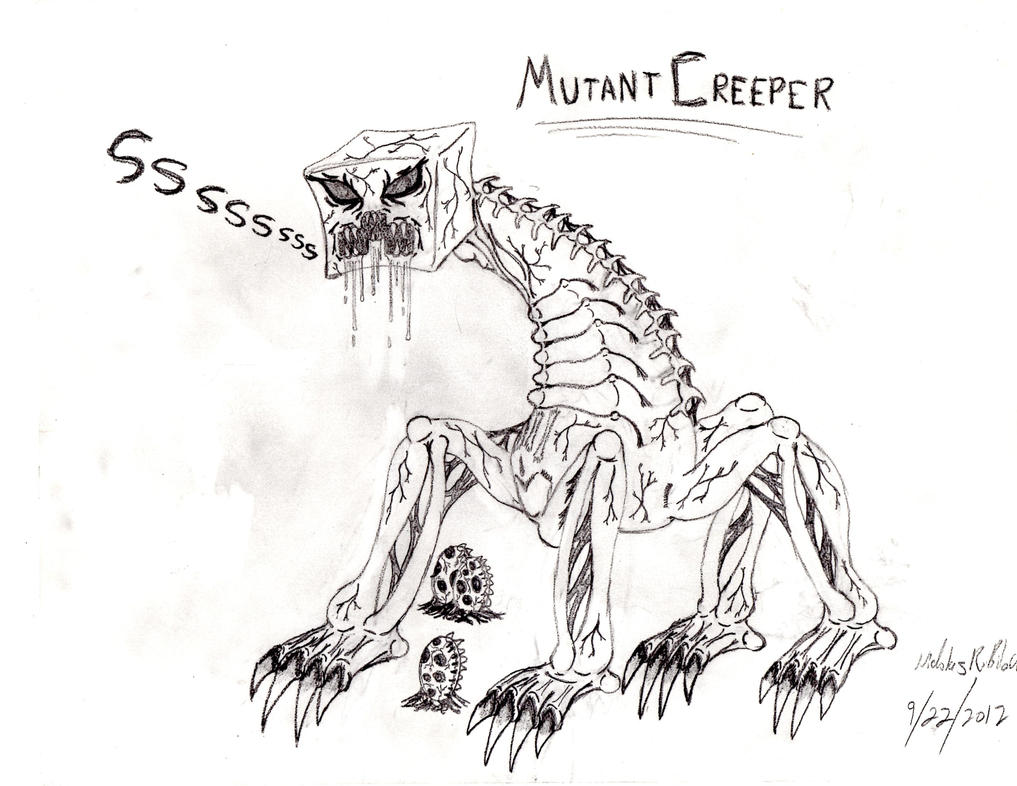 minecraft mutant creeper coloring pages mutant creeper by typhus09 on deviantart