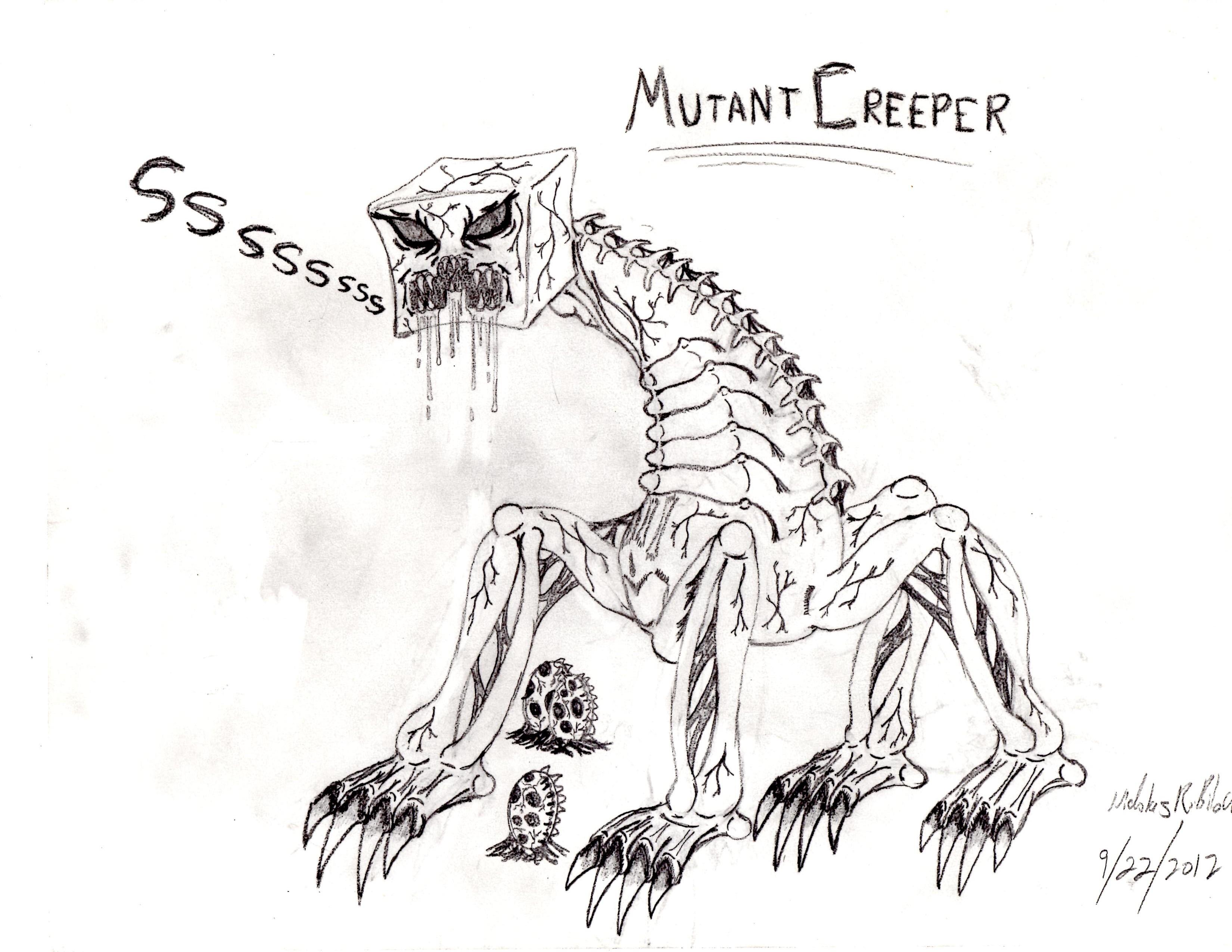 Minecraft Mutant Creeper Coloring