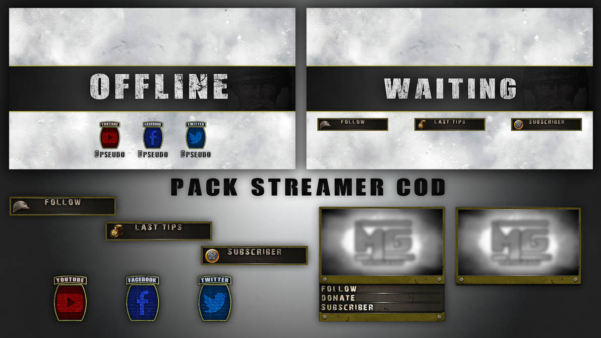 Pack Stream overlay COD WWII by mathigraph on DeviantArt