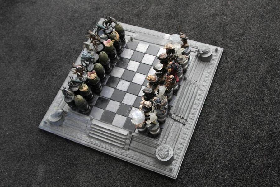 AVP Chess Set By Joker Laugh Alien Vs Predator Wallpaper