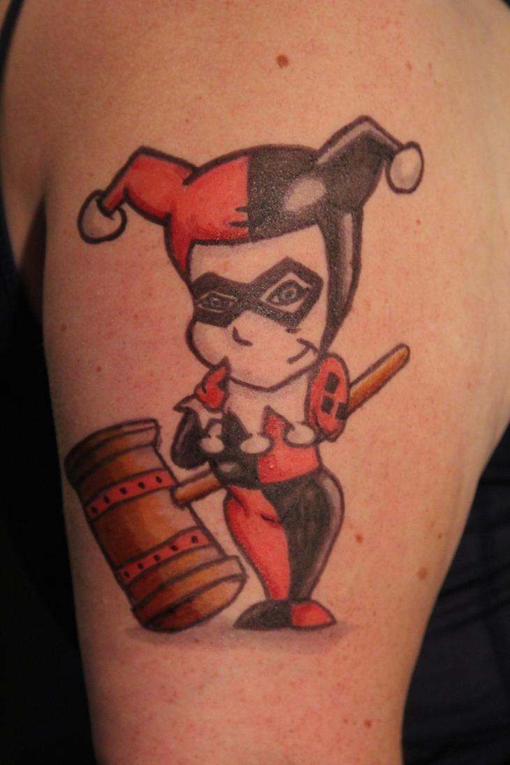 Harley tatt by joker laugh on deviantart for Harley quinn and joker tattoo