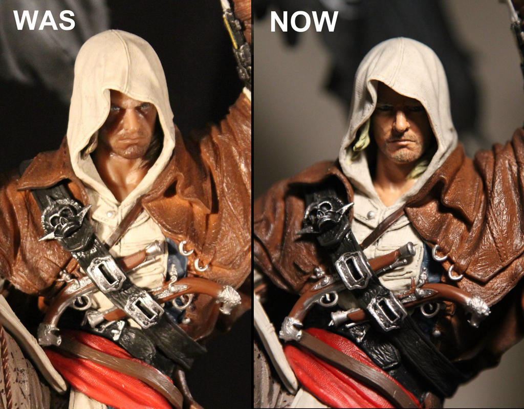 Edward Kenway Face Re Paint Assassin S Creed Iv By Joker Laugh
