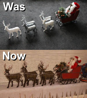 Santa's Sleigh, Was and Now.