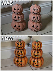 Pumpkins Was and Now.