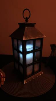 Spooky Haunted Halloween Lantern Custom Made.