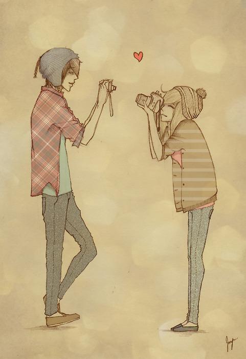 рисунки лучшие друзья мальчик и девочка