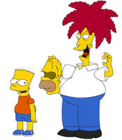 sideshow bob and bart simpson by CPD-91