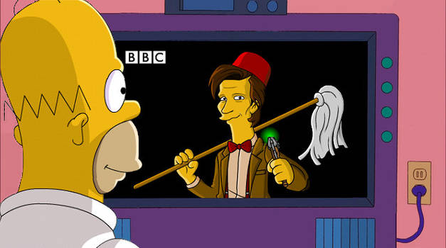doctor who on the simpsons by CPD-91