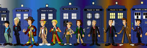 The 13 doctors line up