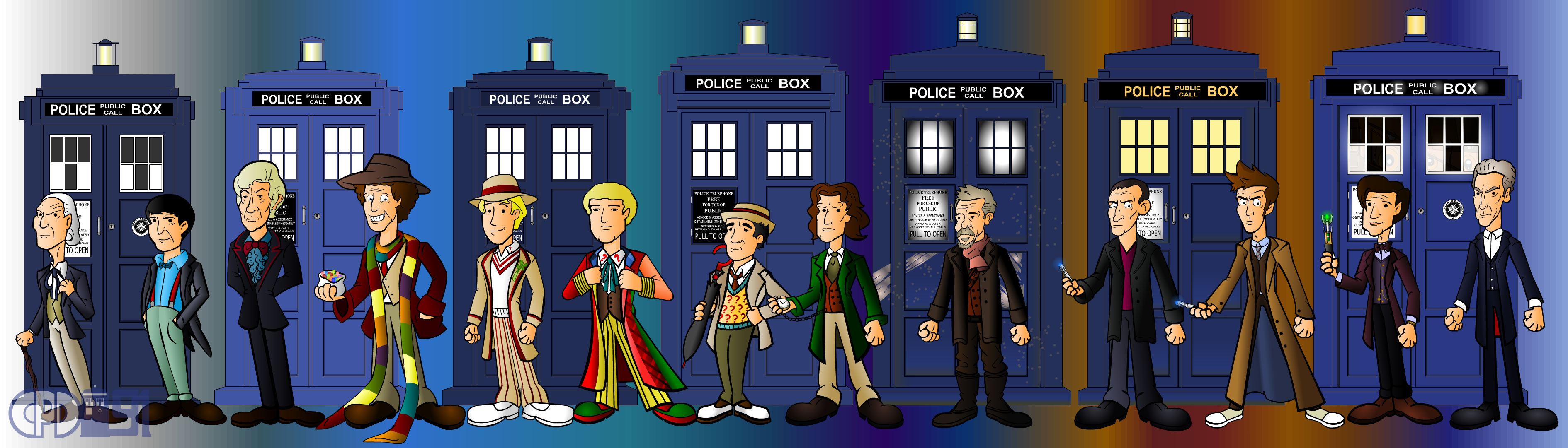 The 13 Doctors Line Up By CPD 91 On DeviantArt