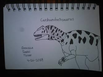 Carcharodontosaurus by GodzillaSonicTitan