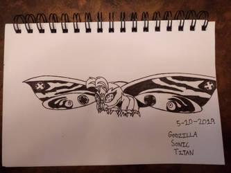 AsylusGoji's Mothra by GodzillaSonicTitan