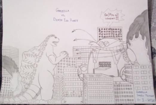 Godzilla vs Death Egg Robot Redraw