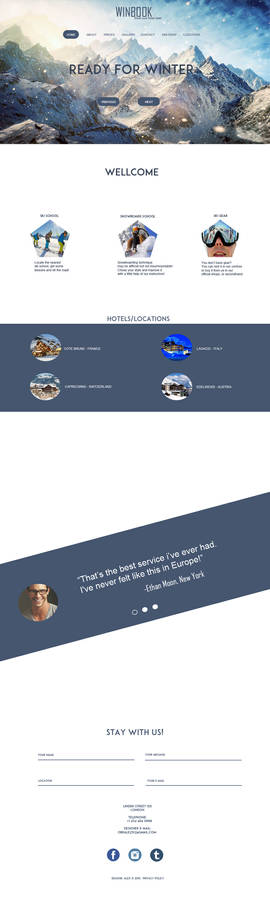 Web site template - skiing