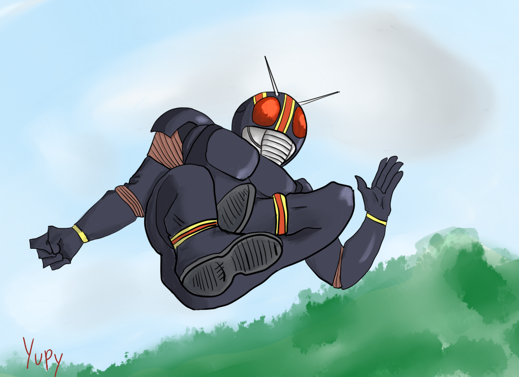kamen rider black rider kick by yupytup5 on deviantart