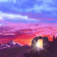Daily Painting #13 - Light Floats by slshimerdla