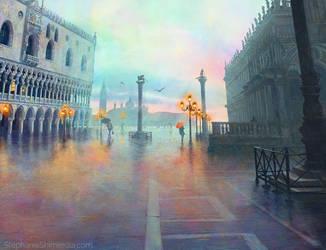Rainy Evening in Venice by slshimerdla