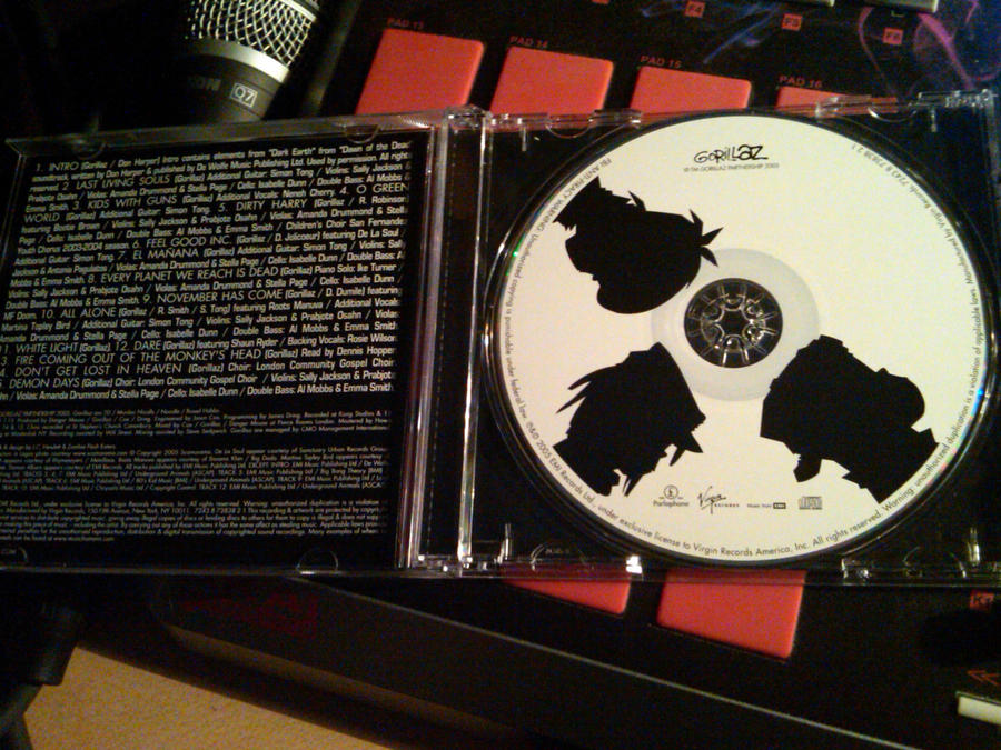 Gorillaz Demon Days misprint? by daftpunkgorillaz