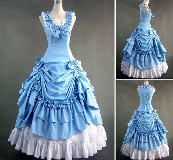 Sky Blue Sleeveless Victorian Prom Dress by lindayang1122 on DeviantArt
