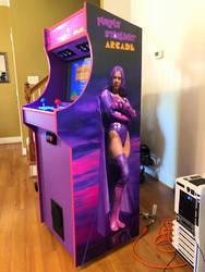 My arcade cabinet built - Purple Starlight theme