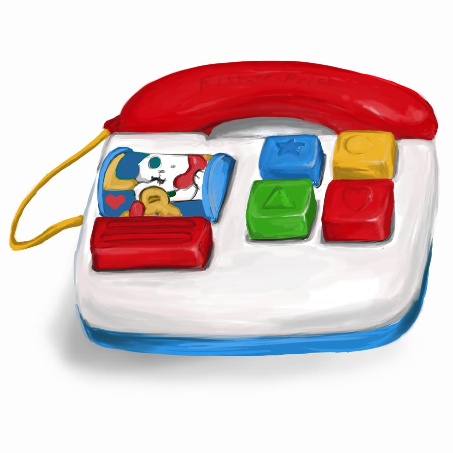 fisherprice telephone toy by maybellez on deviantart. Black Bedroom Furniture Sets. Home Design Ideas