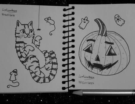 Couple of Halloween Doodles