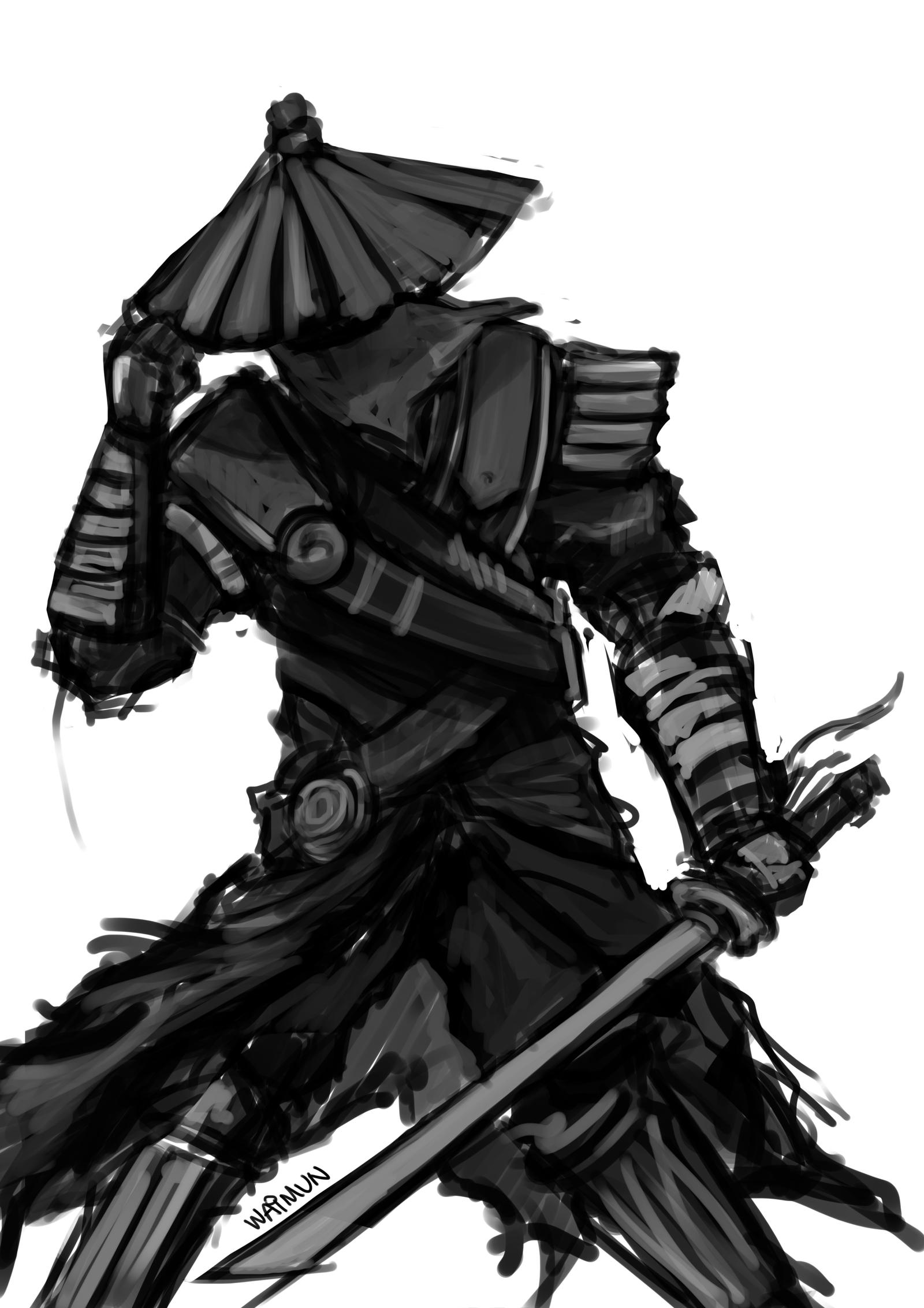 It's just an image of Impertinent Samurai Warrior Drawing