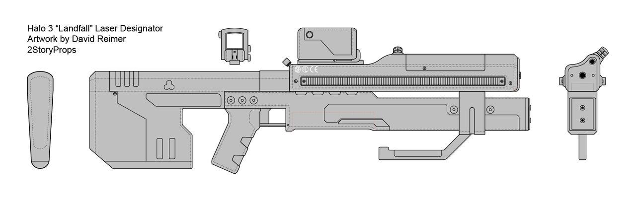 Halo Landfall Laser Designator By Doublezerofx On Deviantart