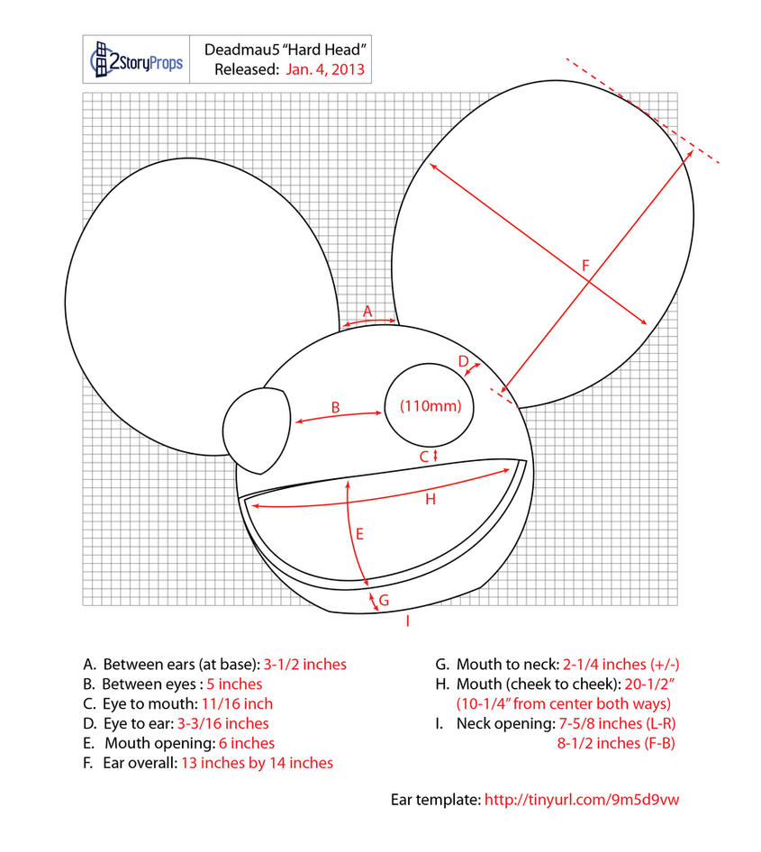 Deadmau5 Hard Head Measurements by DoubleZeroFX