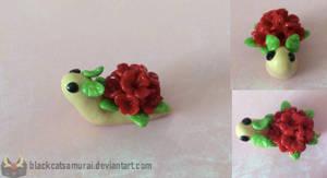 Red Spring Flower Snail