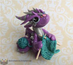 Kitting Dragon by RadugaDragon