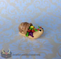 Thanksgiving Cornucopia Snail by RadugaDragon