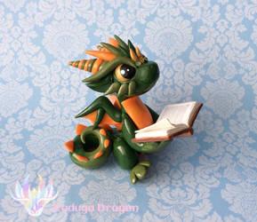 Reading Dragon by RadugaDragon