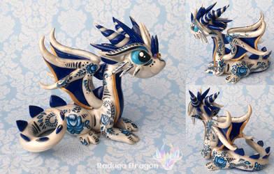 Gzhel Dragon by RadugaDragon