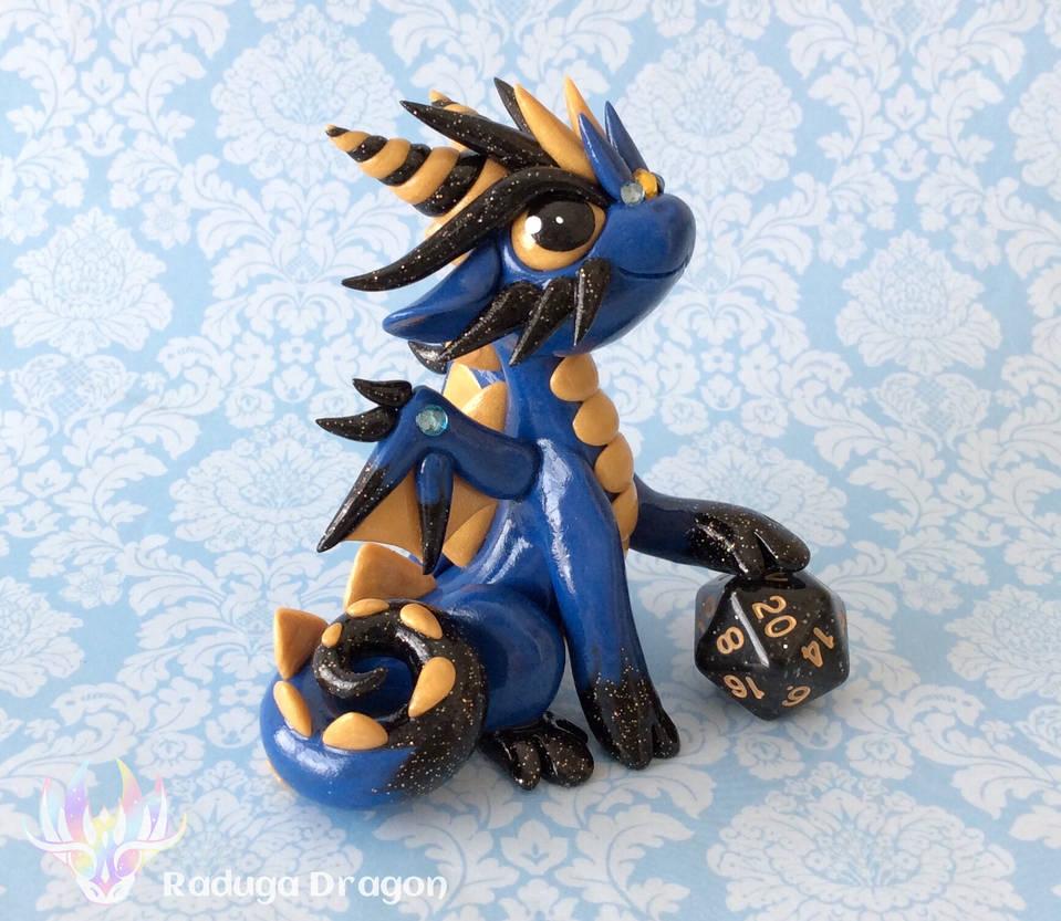 Starry Dice Dragon by RadugaDragon