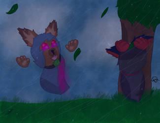 WP#3 rainy day by miniwolf182