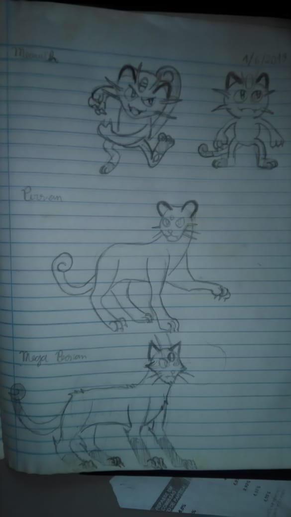 Meowth,Persian and Mega Persian 1