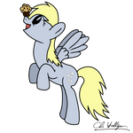 Derpy and her muffin!