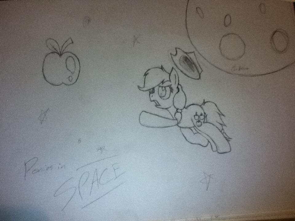 Sketch train - Ponies In Space by Chrispy248