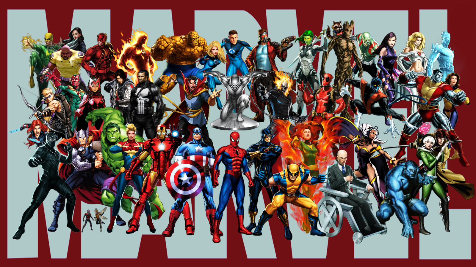 Marvel super heroes wallpaper by stingertheoverlord on - All marvel heroes wallpaper ...
