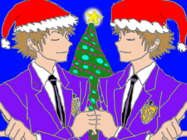 Hikaru and Kaoru are Ready for Christmas by epicShadowdragon