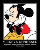 Mickey Mouse motivational poster by Vampiregirl150