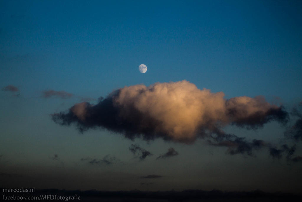 Cloud and moon by Marcodaz
