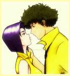 Spike and Faye Colored Closeup