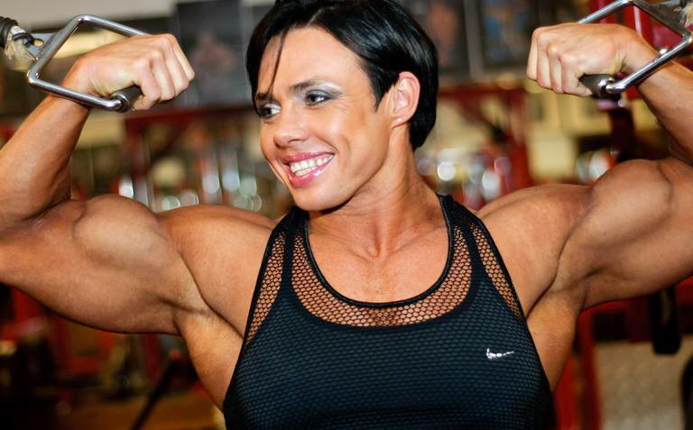 Mature muscled with big clit outdoors 3