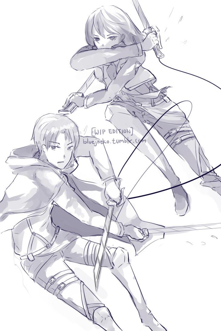 [WIP] Shingeki no kyojin by BlueJNeko