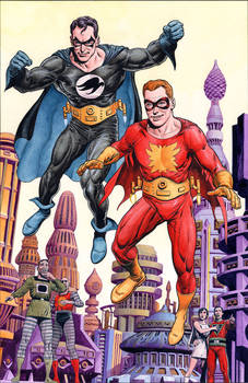Flamebird and Nightwing